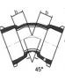 Отвод раструбный 45°